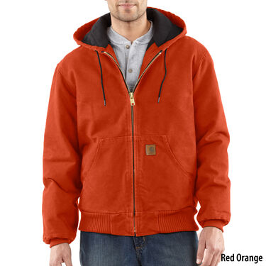 302217575221f Carhartt Men's Quilted Flannel-Lined Sandstone Active Jacket ...