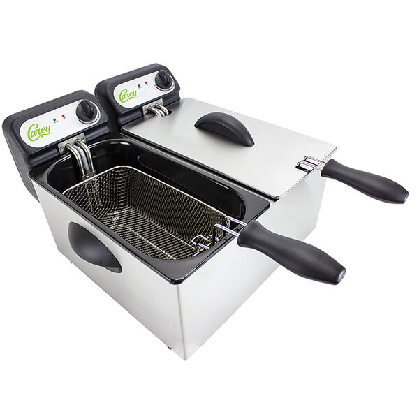 CHARD Carey Double 3-Liter Electric Deep Fryer