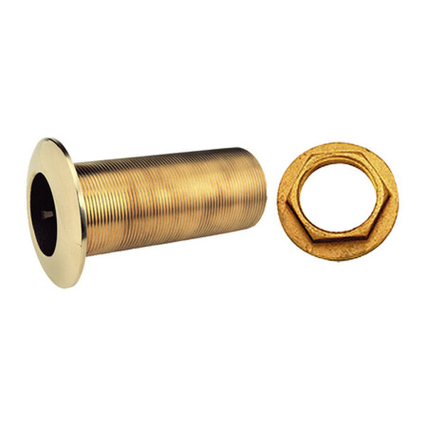 Long Bronze Thru-Hull With Nut, 1-1/2""