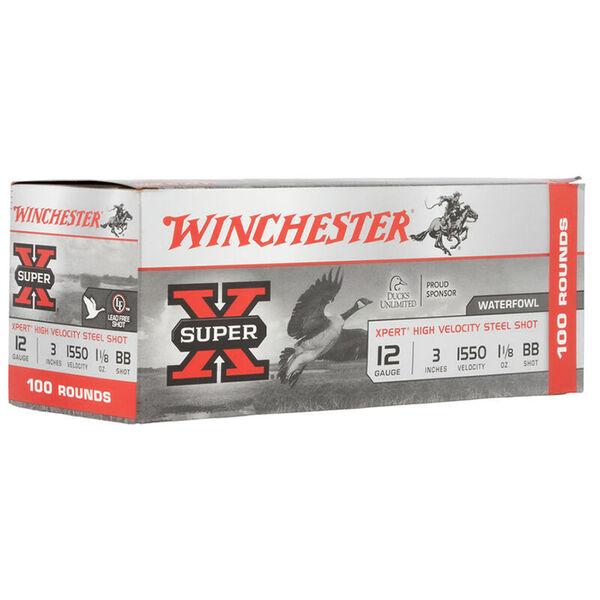"Winchester Super-X Heavy Steel Shot Shells, 12-Ga., 3"", BB Shot, 100 Rounds"