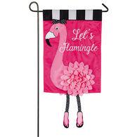 """""""Let's Flamingle"""" Garden Flag"""