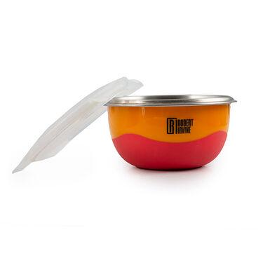 Robert Irvine 8-Piece Microwave-Safe Prep Bowl and Lid Set, Orange