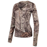 Huntworth Women's Bird's Eye Mesh Long-Sleeve Shirt, Hidd'n Camo