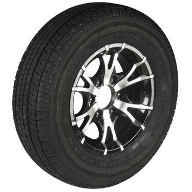 Goodyear Endurance ST225/75 R 15 Radial Trailer Tire, 6-Lug Aluminum T07 Black R