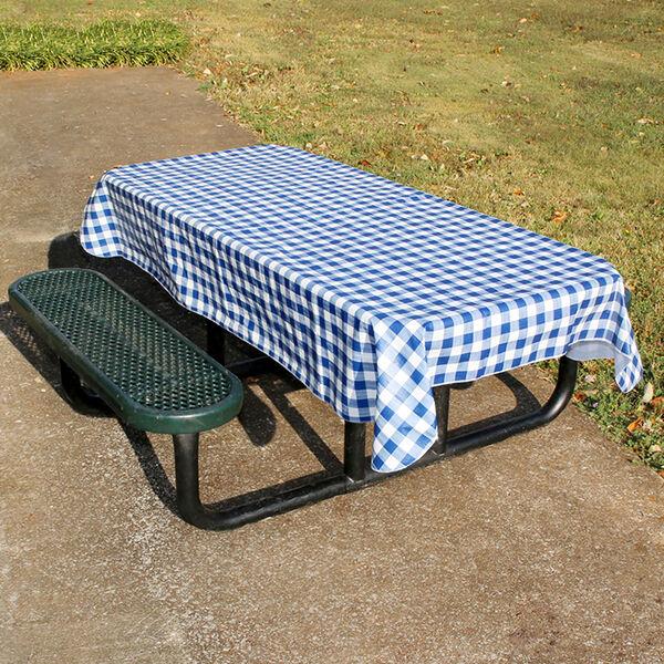 Navy Plaid Tablecloth