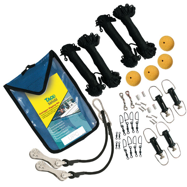 Taco Premium Outrigger Double Rigging Kit with 200' of Black Line