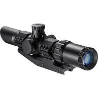 Barska SWAT-AR Rifle Scope, 1-4x28, Illuminated Red/Green Mil-Dot Reticle