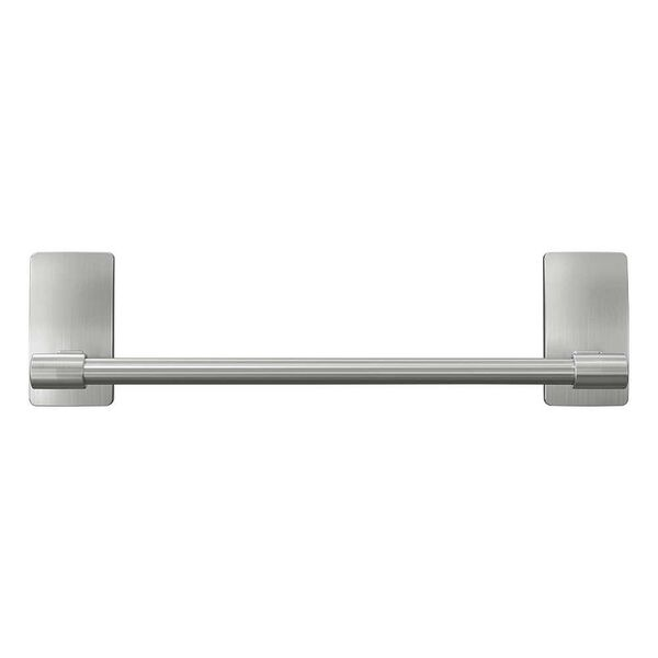 "Command Bath 9"" Hand Towel Bar, Satin Nickel"