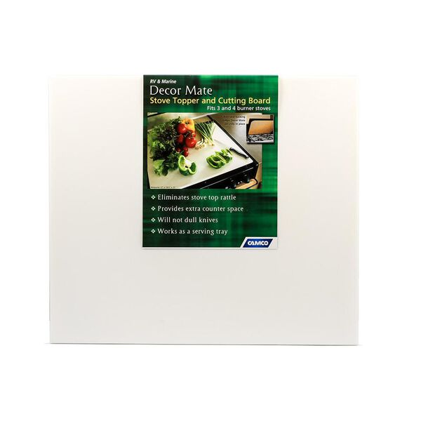 Camco RV Decor Mate Stove Topper, White