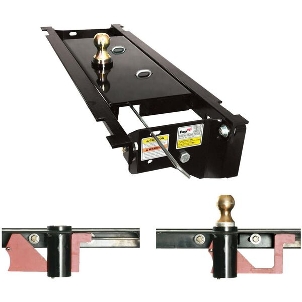PopUp Style Underbed Gooseneck Hitch, Fits 2012-2016 Chevy/GMC 1/2 Ton