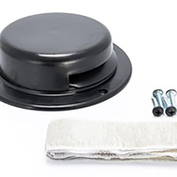 Camco Round Roof Vent Assembly, Black