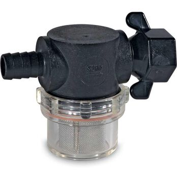 """Shurflo Swivel Nut Strainer with 1/2"""" Barb Inlet"""