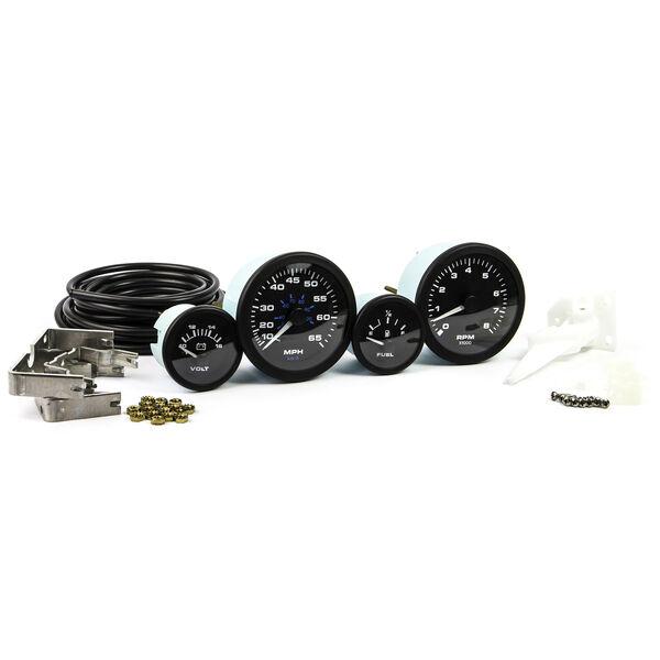 Sierra Black Premier Pro 4-Gauge Set