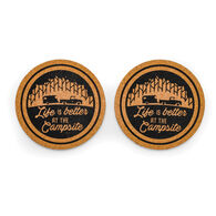 Life Is Better at the Campsite Cork Coasters, 2-pack