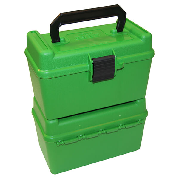 MTM Deluxe Green 50 Rd. Rifle Ammo Box, .270 Cal.