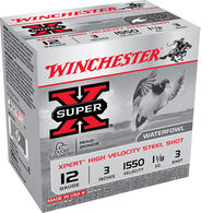 "Winchester Super-X High-Velocity Steel Shot Shells, 12-Ga., 3"", #3 Shot, 100 Rounds"