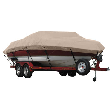 Exact Fit Covermate Sunbrella Boat Cover for Tracker Fish N Barge Sun Tracker 21  Fish N Barge Sun Tracker 21 O/B