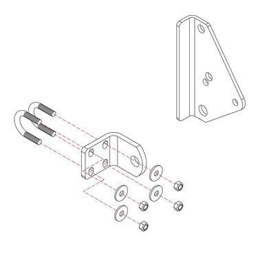 Roadmaster Reflex Steering Stabilizer Mounting Bracket, RBK1