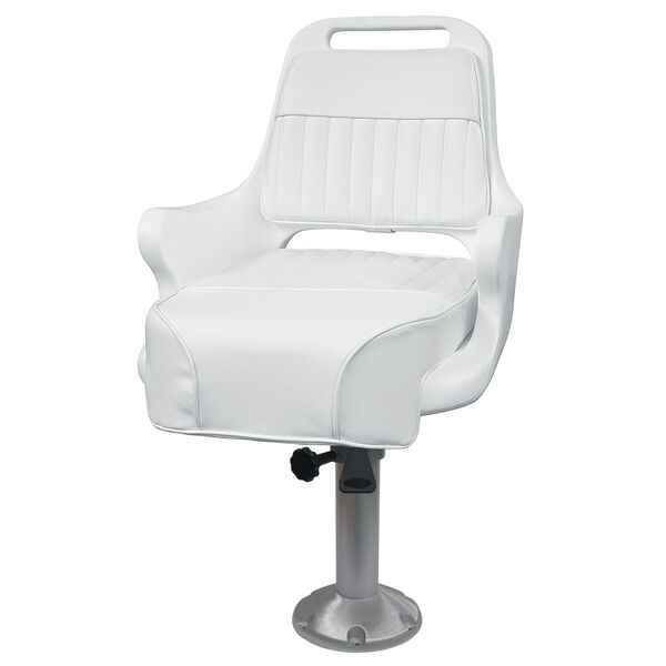 """Wise Ladder Back Pilot Chair w/15"""" Pedestal, Mounting Plate, and Seat Spider"""