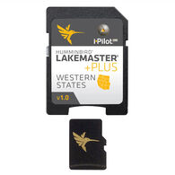 Humminbird LakeMaster Plus Chart MicroSD/SD Card, Western States