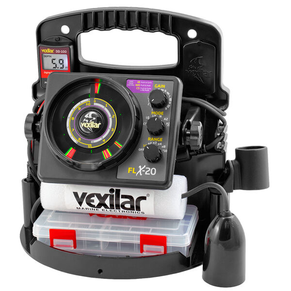 Vexilar PP2012D FLX-20 Pro Pack II 12° Ice-Ducer Combo And DD-100
