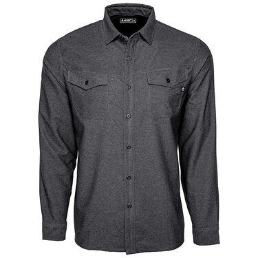 Hi-Tec Men's Hazel Solid Flannel Long-Sleeve Shirt