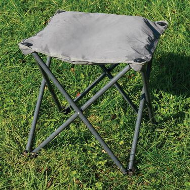 Mac Sports Padded Folding Outdoor Ottoman, Charcoal Gray