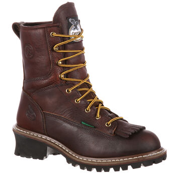 "Georgia Boot Men's Waterproof Leather 8"" Logger Boot"