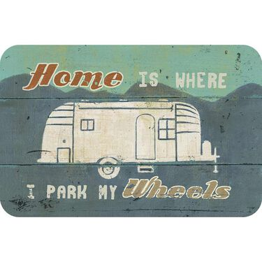 "Reversible Placemat, ""Home is Where I Park My Wheels"""