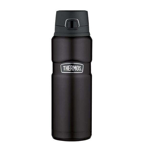 Thermos Stainless King Vacuum-Insulated 24-Oz. Drink Bottle, Matte Black