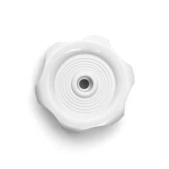 "White Window Knob - 1/2"" shaft"