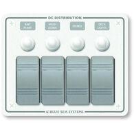 Blue Sea Water-Resistant Contura Circuit Breaker Panel, Model 8272