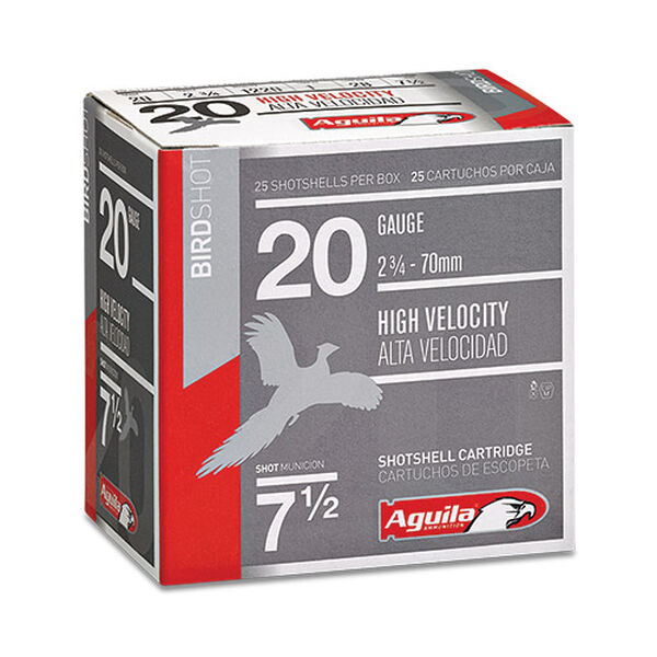 "Aguila 20 Gauge High Velocity Field Shotshells, 2-3/4"", 1 oz., 25-Rounds"
