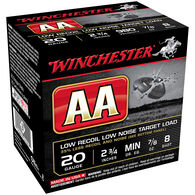 """Winchester AA Low-Recoil Target Loads, 20-ga., 2-3/4"""", 7/8 oz., #8"""