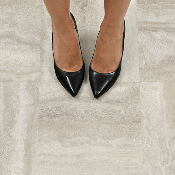 FloorPops Platinum Peel-and-Stick Floor Tiles