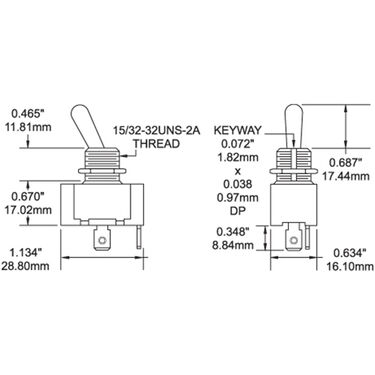Blue Sea WeatherDeck Toggle Switch - DPDT, ON-OFF-ON