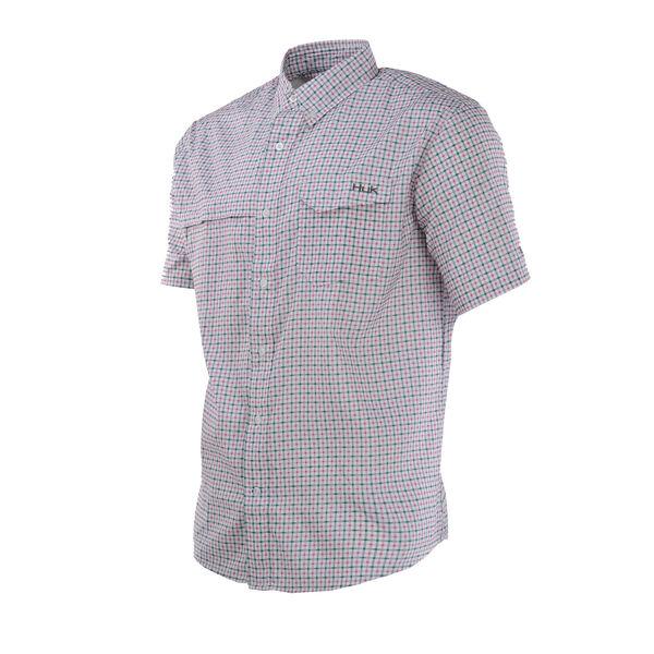 Huk Tide Point Woven Plaid Button-Down Shirt