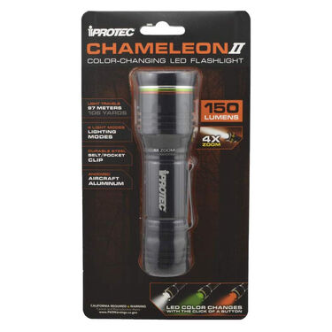 iProtec Chameleon II Color-Changing LED Flashlight