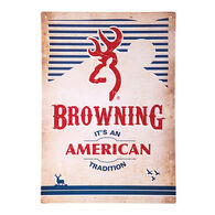 Browning American Tradition Tin Sign