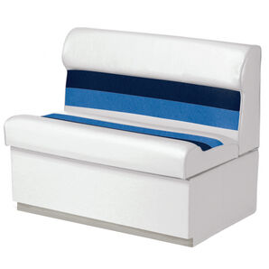 """Toonmate Deluxe 27"""" Lounge Seat - TOP ONLY - White/Navy/Blue"""