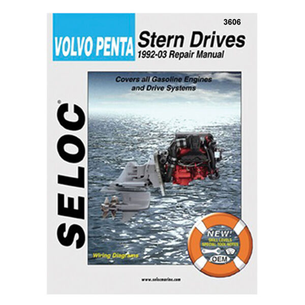Seloc Marine Stern Drive & Inboard Repair Manual for Volvo/Penta '92 - '02