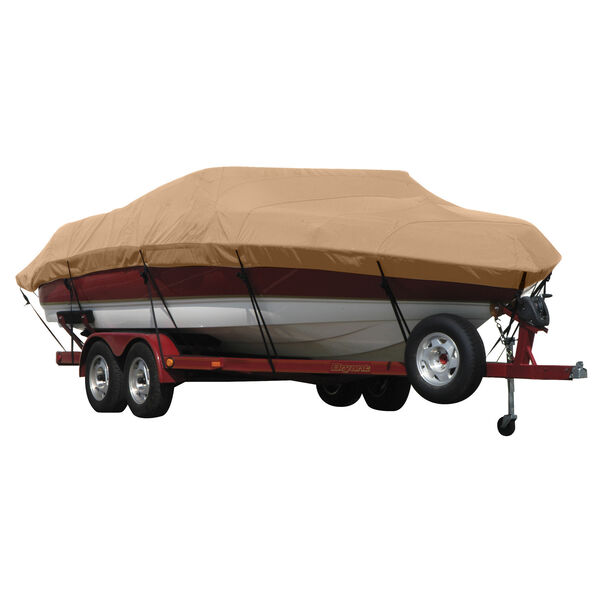 Exact Fit Covermate Sunbrella Boat Cover for Lund 1440-V Rebel 1440-V Rebel Tiller No Trolling Motor W/Felt Hemline O/B