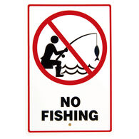 """""""No Fishing"""" Sign"""