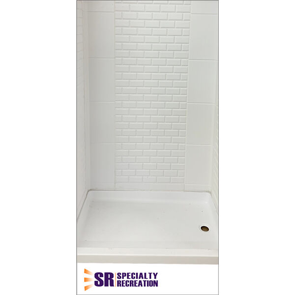 """Specialty Recreation RV Shower Wall System, 24"""" x 40"""" x 67"""""""