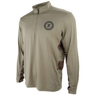 NRA Men's Performance Long-Sleeve Quarter-Zip Tee