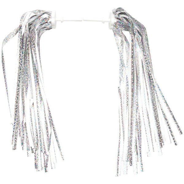 Dimension Kid's Bike Streamers, Silver