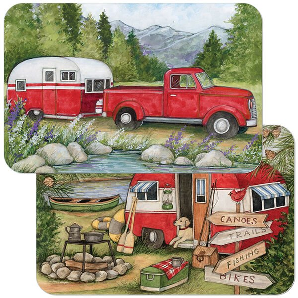 Reversible Decofoam Mountain Camper Placemat, each