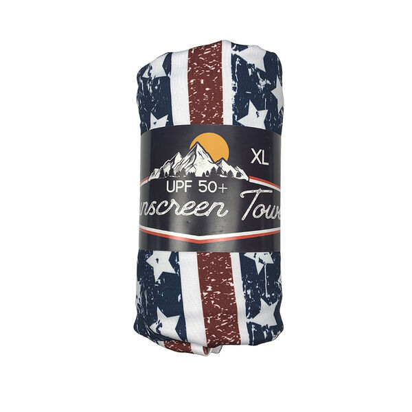 Luv Bug UPF 50+ Sunscreen Towel, Extra Large, Freedom