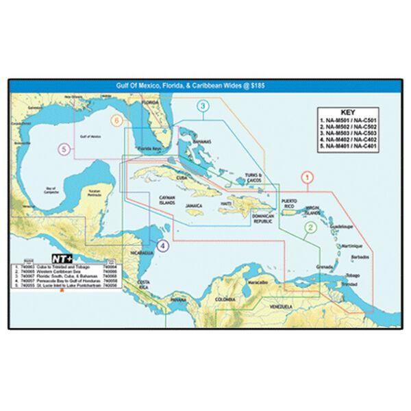 C-MAP NT+ Wide Map, Pensacola Bay To Gulf Of Honduras