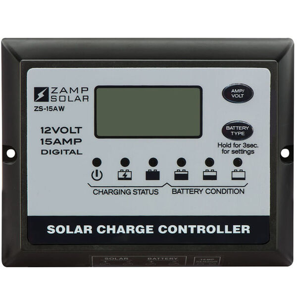 Zamp Solar 15-Amp 5-Stage PWM Charge Controller